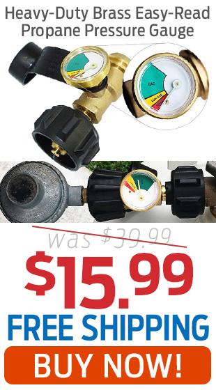 Heavy-Duty Brass Easy-Read Propane Pressure Gauge Just $15.99 + Free Shipping!