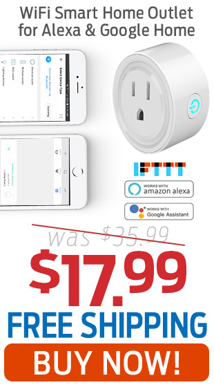 WiFi Smart Home Outlet For Alexa & Google Home Now Only $17.99 + Free Shipping!
