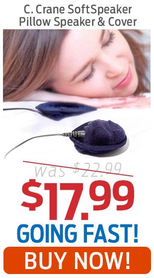 C.Crane SoftSpeaker Pillow Speaker & Washable Cover Only $17.99!