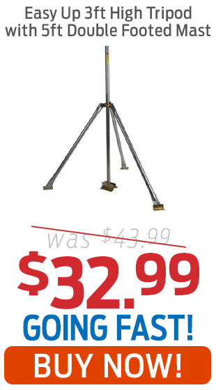 Easy Up 3-Foot High Tripod Mount With 5-Foot Double Mast Now $32.99!