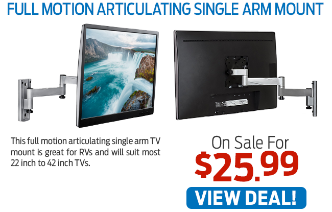 This Full Motion Articulating Single Arm Mount Now Just $25.99!