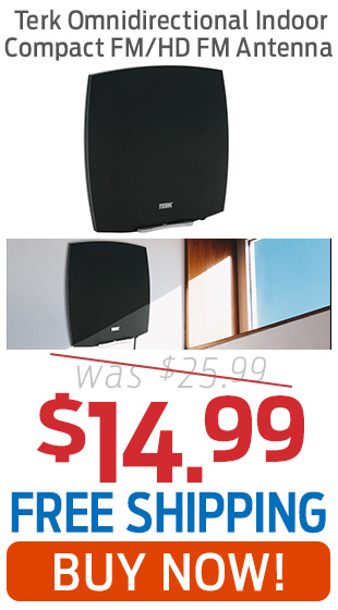 Terk Omnidirectional Indoor Compact FM/HD-FM Antenna Only $14.99 + Free Shipping!