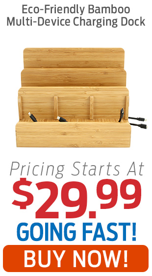 Eco-Friendly Bamboo Multi-Device Charging Dock On Sale Starting At $29.99!