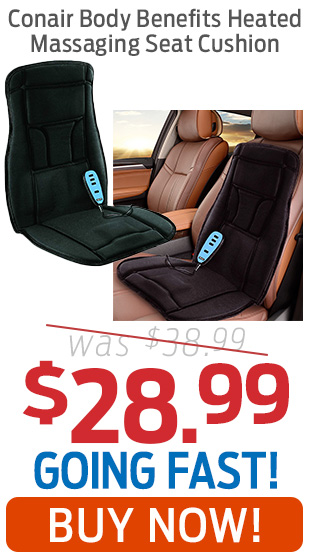 Conair Body Benefits Heated Massaging Seat Cushion Now $28.99!
