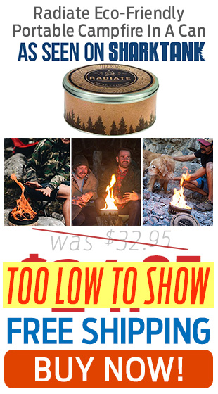 Radiate's Eco-Friendly, Portable Campfire In A Can Is On Sale + Free Shipping!