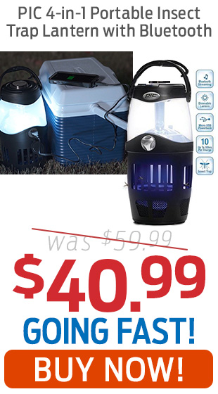 PIC 4-in-1 Portable Insect Trap Lantern With Bluetooth Just $40.99!