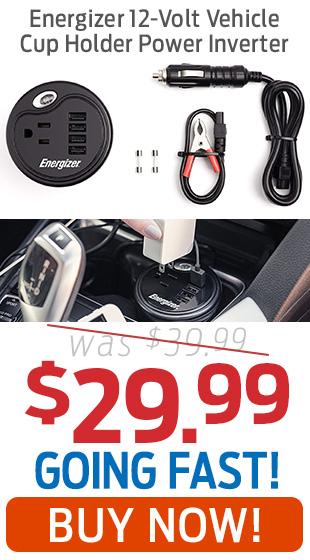 Energizer Vehicle Cup Holder Power Inverter Just $29.99!