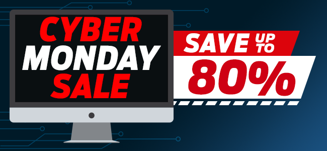 Save Up To 80% On Items In Our Cyber Monday Sale!
