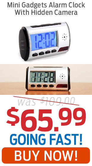 Mini Gadgets Alarm Clock With Hidden Camera Only $65.99!