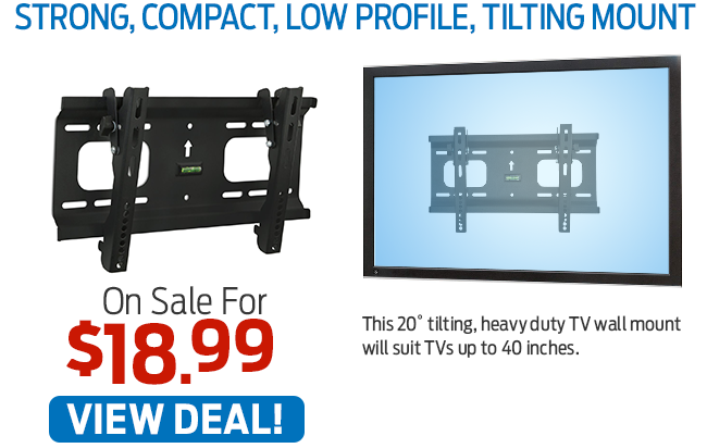 This Strong, Compact, Low Profile, Tilting Mount Now Just $18.99