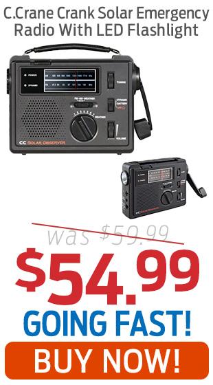 C.Crane Crank Solar Emergency Radio With LED Flashlight Just $54.99!