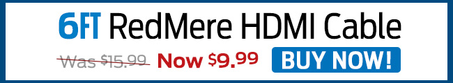 6ft. RedMere HDMI Cable - Buy Now!