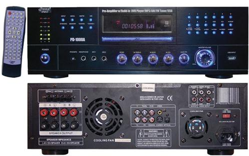 Pyle Home 1000-Watt AM/FM Receiver with Built-in DVD Player (PD1000A)