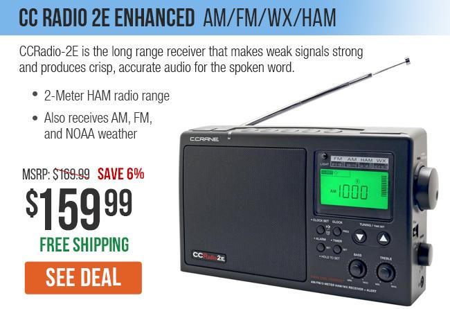 CC Radio 2E Enhanced brings long range reception on 2-Meter HAM, weather and AM FM