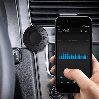 Tech Choice Hands-Free Bluetooth Audio Receiver for Auto or Home