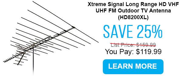 Xtreme Signal Long Range HD VHF UHF FM Outdoor TV Antenna (HD8200XL)
