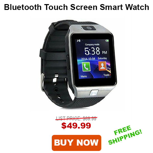 Tech Choice Bluetooth Touch Screen Smart Watch with GPS
