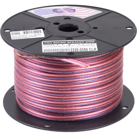 Consolidated Wire 18G 2-Conductor Clear Speaker Wire 250-Ft (5174-250)