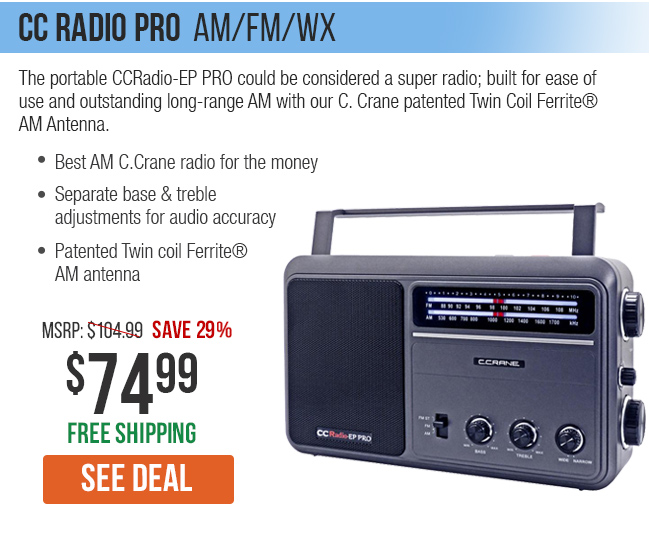 The Portable CCRadio-EP could be considered a super radio.