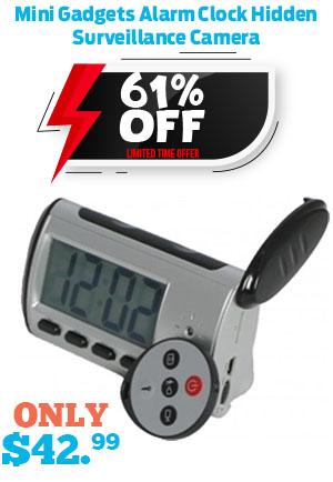 Mini Gadgets Alarm Clock Hidden Surveillance Camera