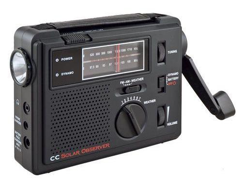 C.Crane Observer Windup Solar Emergency Radio AM/FM LED Flashlight