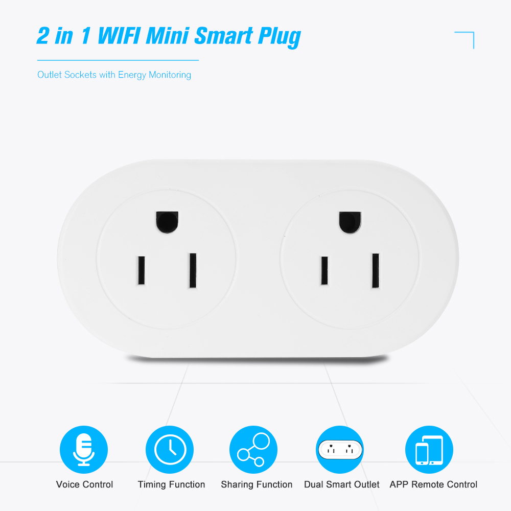Tech Choice WiFi Smart Home Dual-Outlet Switch