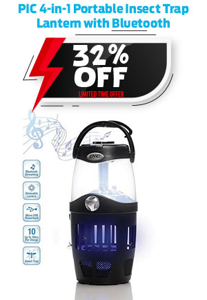 PIC 4-in-1 Portable Insect Trap Lantern with Bluetooth