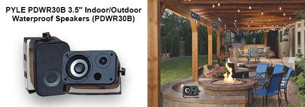 PYLE PDWR30B 3.5'' Indoor/Outdoor Waterproof Speakers (PDWR30B)
