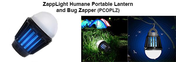 ZappLight Humane Portable Lantern and Bug Zapper (PCOPLZ)
